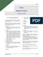 Maroc - Réglement minier