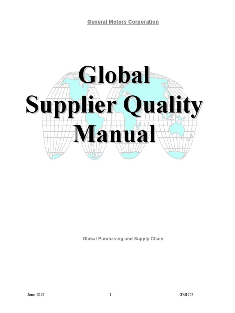 Gm 1927 supplier quality manual business process audit platinumwayz