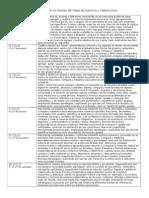 Descripción de los Niveles del Mapa de Números y Operaciones