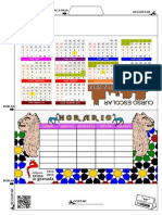 Calendario y Horario Color