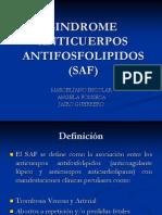 Sindrome Anticuerpos Antifosfolipidos (Saf)