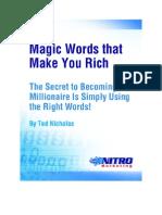 Magic Words That Make You Rich