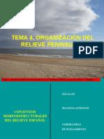 TEMA 4 - ORGANIZACIÓN DEL RELIEVE PENINSULAR