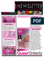 Fall 2013 Queer Ontario Newsletter