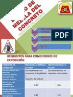 DISEÑO DE MEZCLA DEL CONCRETO