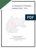 Alphabetisches Verzeichnis Der Gemeinden in Deutschland 1900