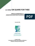 2005 Preparedness Planning for Pandemic Influenza 29p