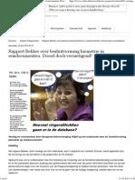 Rapport Bekker Over Besluitvorming Biometrie in Reisdocumenten_ Dociel Doch Vernietigend!