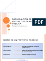 Sistema Nacional de Inversión Publica formulacion s