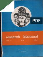 Jammu & Kashmir State Research Biannual Vol II 1978 No 1 - Ed. F.M Hassnain