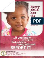 SCAN Unit - Child Abuse Posters