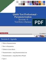 QTP Training Session6-Parameterisation