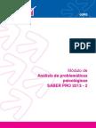 Analisis de Problematicas Psicologicas 2013 2