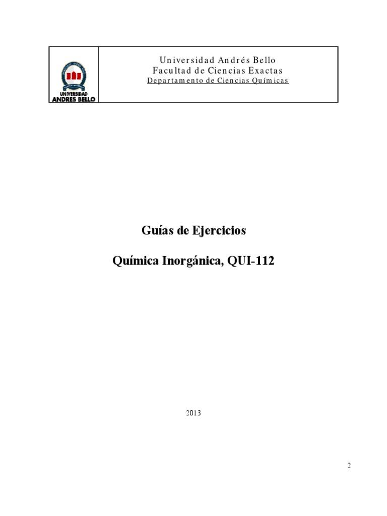 Guia Ejercicios QUI112 2013