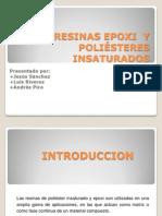 RESINAS EPOXI  Y  POLIÉSTERES INSATURADOS