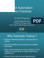 Test Automationbestpractiices