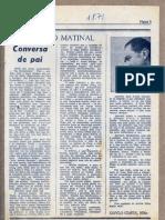 Encontro Matinal II Conversa de Pai 1-8-71