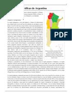 Regiones geográficas de Argentina