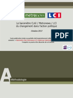OpinionWay - Le baromètre CLAI  Metro  LCI du changement dans laction politique Oct2013