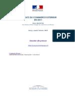 Resultats Du Commerce Exterieur en 2011
