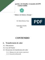 (1) Balances de Materia y Energia