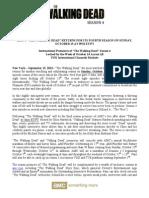 TWD S4 Press Release