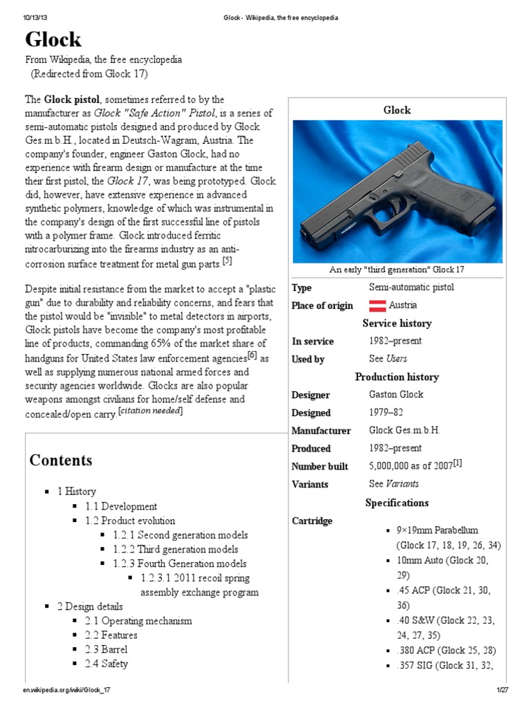 Glock   Handgun   Trigger (Firearms)