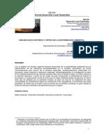 ANÁLISIS SOCIO HISTÓRICO Y CRÍTICO DE LA SOSTENIBILIDAD AMBIENTAL