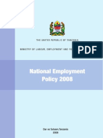 National Employment Policy, 2008