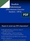 Analisis Diskriminan (DFA)