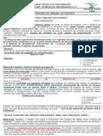 UNIDADE II - DESINFECÇÃO E PREPARO DA UNIDADE DO PCT