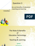 The Roles & Benefits Edu Tech