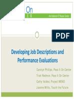 Developing Job Descriptions