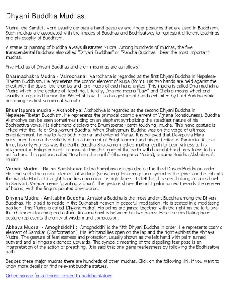 Buddha Mudra | Schools Of Buddhism | Religious Philosophical