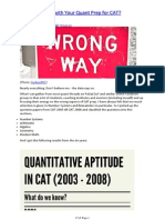 What is Wrong With Your Quant Prep for CAT