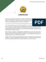 Comunicado CDO