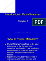 Chapter 1 Introduction to Dental Materials