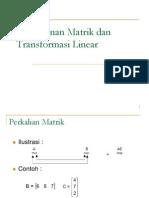 05a. Matrik Dan Transformasi Linear Determinan