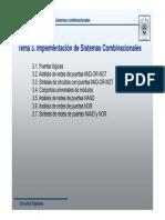 Tema 3. Implementacion de Sistemas Combinacionales