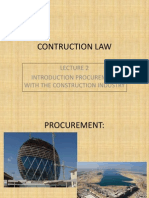 Lecture 30 January 2013 Procurement with the construction industry