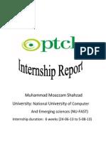 PTCL Intenshp Report