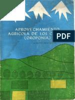 Aprovechamiento Agrícola de los Suelos (Oroponia)