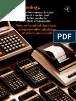 Texas Instruments SR Series 1976