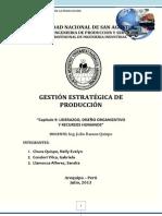 CAP 9 LIDERAZGO, DISEÑO ORGANIZATIVO Y RRHH