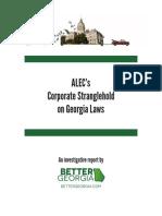 ALEC's Corporate Stranglehold on Georgia Laws