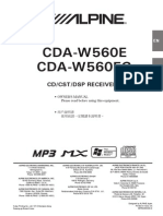 Alpine CDA-W560EG User Manual