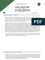 guia de la asignatura de evaluación psicologica