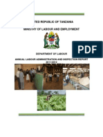 Annual Labour Administration and Inspection Report