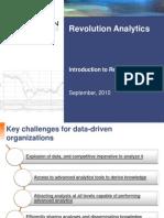 RevolutionAnalytics - Solution for Big Data