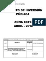 PROYECTOS A NIVEL DE PRE INVERSIÓN.docx